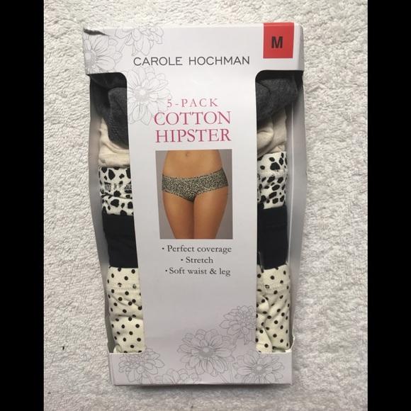 5ce19504bf25 Carole Hochman Intimates & Sleepwear   Cotton Hipster Panties 5 Pack ...